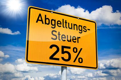 Abgeltungssteuer 25%